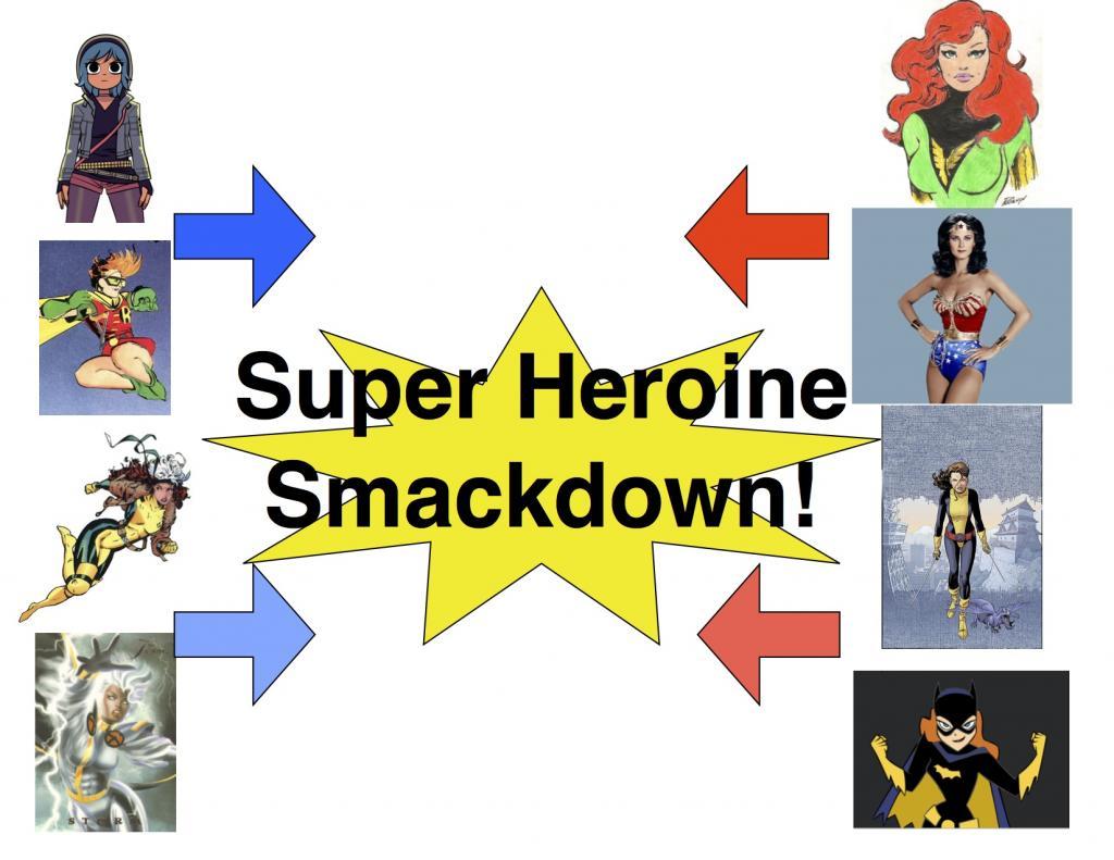Super Heroine Smackdown Brackets!